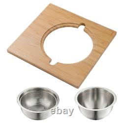 16.75 in. Workstation Kitchen Sink Serving Board Set with Stainless Steel Mixing