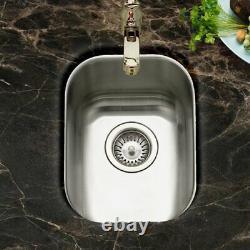 16x18x9 T304 Stainless Steel Undermount Single Bowl Kitchen Bar Sink