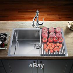 18 Gauge Undermount Stainless Steel Kitchen Sink Single Bowl 9 Deep with Grid