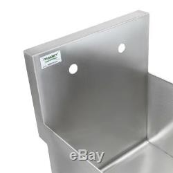 18 x 18 x 14 WITH FAUCET Stainless Steel Commercial Utility Sink Bowl Mop Prep