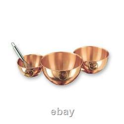 2 Qt, 4.5 Qt, 5 Qt. Solid Copper Beating Bowl (Set of 3)