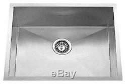 22x18 Single Bowl Undermount Stainless Steel Kitchen Sink Zero Radius