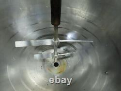 23 Dia x 24 Deep Stainless Steel Jacketed Mixing Bowl With1-1/2HP Mixer 480V 3Ph