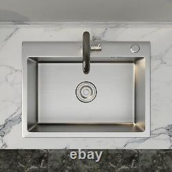24x18 Stainless Steel Kitchen Sink 8 Deep Single Bowl Drop In withFaucet