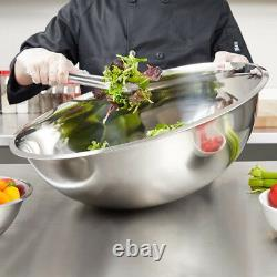 3 PACK Extra Large 30 Qt Stainless Steel Mixing Bowl Heavy Duty Commercial New