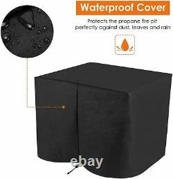 30 Propane Gas Fire Pit with Waterproof Table Cover Auto-Ignition 50,000 BTU