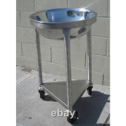 30 Qt Heavy-Duty Stainless Steel Mixing Bowl with Mobile Dolly Stand