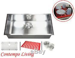 30 Stainless Steel Zero Radius Single Bowl Kitchen sink
