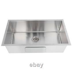 30 x 18 x 9 Deep Mount Drop In Stainless Steel Single Bowl Kitchen Sink