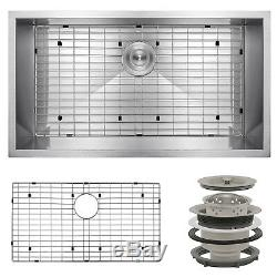 30 x 18 x 9 Undermount Stainless Steel Single Bowl Kitchen Sink with Drain Grid