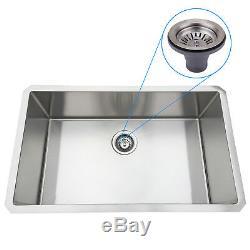 30x18'' Stainless Steel Kitchen Sink 16 Gauge Single Bowl Undermount 10'' Deep