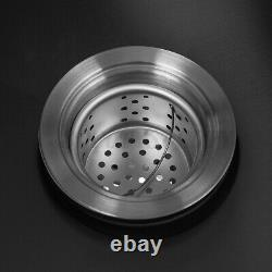 31''x18''x9'' Stainless Steel Double Bowl Undermount Kitchen Sink Basin with Hose