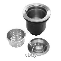 31x18x9 Stainless Steel Top Mount Kitchen Sink Double Bowl Basin with Strainer
