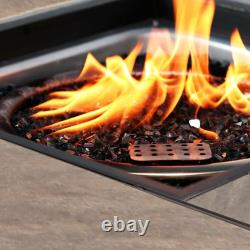 32 Backyard Gift LPG Propane Gas Fire Pit Table Fireplace Patio Heater Outdoor