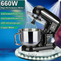5.8QT 6 Speed Control Electric Stand Mixer with Stainless Steel Mixing Bowl Food
