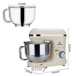 5.8QT 6 Speed Electric Stand Mixer with Stainless Steel Mixing Bowl Food Mixer