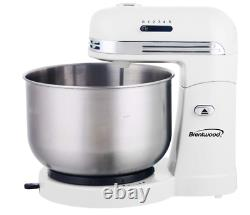 5-Speed Stand Mixer with 3-Quart Stainless Steel Mixing Bowl (White), One Size