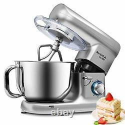 6 Speed Electric Stand Mixer Food Multi Mixing Bowl Blender Beater 5.5L 1500W