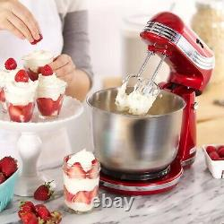 6-Speed Stand Mixer with 3-Quart Stainless Steel Mixing Bowl, Dough Hooks & Mixe