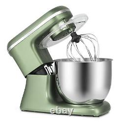 7QT Tilt-Head Food Stand Mixer Stainless Steel Bowl Electric Kitchen BeaterGreen