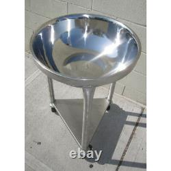 80 Qt Heavy-Duty Stainless Steel Mixing Bowl with Mobile Dolly Stand