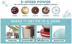 Aqua Blue Compact Stand Mixer 3.5 Quart Steel Beaters Dough Hooks Baking Cooking