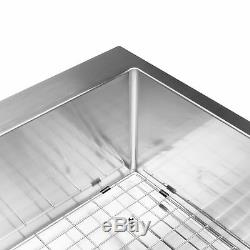 BAI 1232 48 Handmade Stainless Steel Kitchen Sink Single Bowl With Drainboard