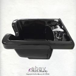 Beauty Salon Shampoo Bowl Black ABS Plastic Square Salon Sink TLC-B11