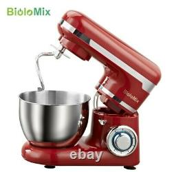 BioloMix 1200W 4L Stainless Steel Bowl 6-Speed Kitchen Food Stand Mixer 50114