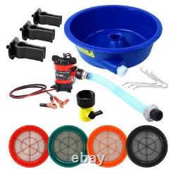 Blue Bowl Concentrator Deluxe Gold Kit with Pump, Leg Levelers and 4 Classifiers