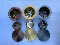 Burnished Brass gold stainless steel double bowl kitchen sink hand made 780450