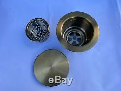Burnished brass gold stainless steel double bowl kitchen sink w drainer r10 mm