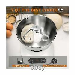 CKOZESE 7 Qt Compact Kitchen Stand Mixer with Stainless Steel Mixing Bowl, Di