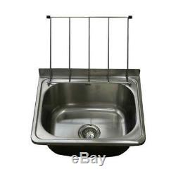 Cleaners Sink Stainless Steel Bowl Mop Sinks with Legs Cafe Laundry Trough 45x55