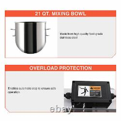 Commercial Dough Mixer w 20 Qt Stainless Steel Mixing Bowl Electric Food Mixer