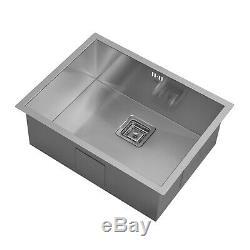 ENKI KS012 Stainless Steel 1 Single Bowl Square Strainer Undermount Kitchen Sink