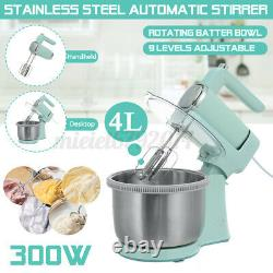 Electric Cake Stand Mixer Food Mixing Bowl Beater Dough Kitchen Multi Blender
