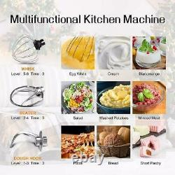 Electric Countertop Stand Mixer 6.5QT 850W Stainless Steel Mixing Bowl