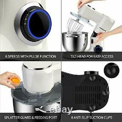 Electric Stand Mixer Food Multi Mixing Bowl Blender Beater Dough 1500W 8L
