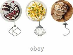 Electric Stand Mixer Food Multi Mixing Bowl Blender Beater Dough 4.3 Litre Bowl