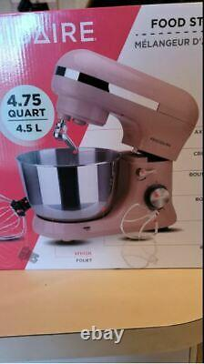 Frigidaire 8 Speed Stand Mixer with 4.5 Liter Stainless Steel Mixing Bowl, pink