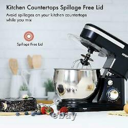 Geepas Stand Mixer 5L Mixing Bowl Beater DoughHook 6 Speed 1000W Stainless Steel