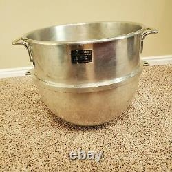 Genuine Hobart Vmlh-60 Qt Stainless Steel Mixing Bowl- Recently Re-tinned