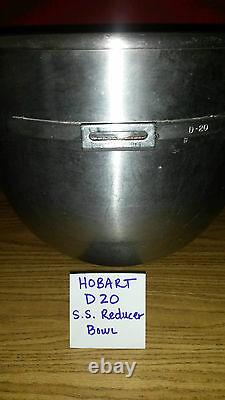 Hobart Mixer Bowl DS20 Bowl Stainless Steel Mixing Bowl STEP DOWN 30 QT 20QT
