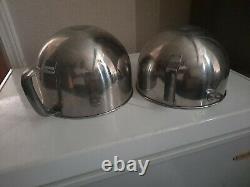 KitchenAid 2 Stainless Steel 6 Quart Mixing Bowl w. 3 Attachments & Splash Guard