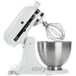 KitchenAid 4.5Qt Classic Standmixer White Countertop