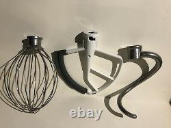 KitchenAid 6 Quart Lift Stand Mixer Bowl Stainless Steel + 3 Attachments