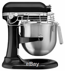 KitchenAid Commercial 8-Quart Bowl-Lift Stand Mixer with Bowl Guard Onyx Black