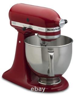 KitchenAid Empire Red 5-quart Artisan Tilt-Head Stand Mixer refurbished