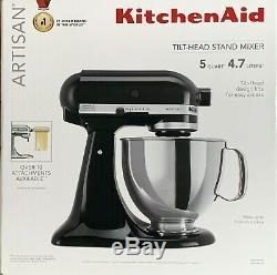 KitchenAid KSM150PSOB Artisan 5-Qt Stand Mixer Onyx Black